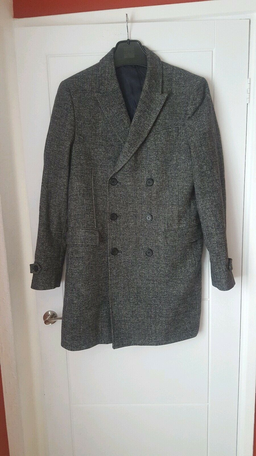 French Connection Double Breasted Wool Men's Coat Size 40