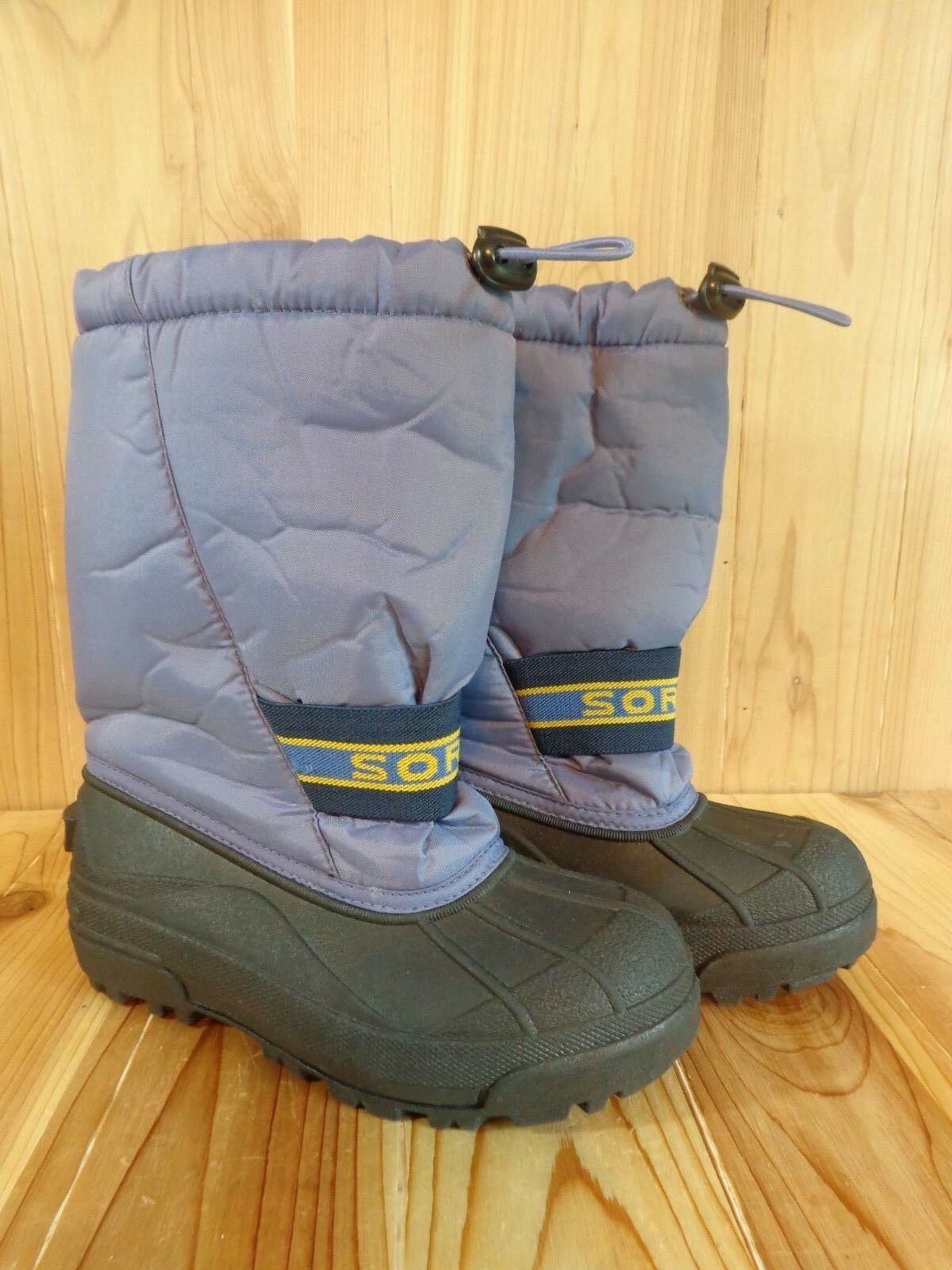 SOREL Snow Chariot Winter Boots Womens Size 5 Purple LY1650 Insulated Waterproof