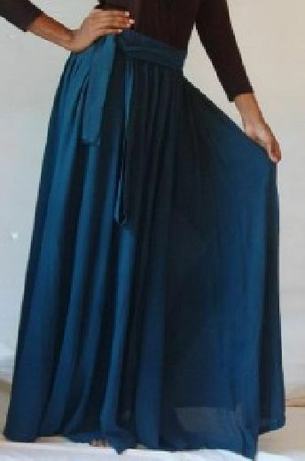 Teal skirt maxi a line sash M L XL OS 1X 2X 3X 4X belt classic plus or one size
