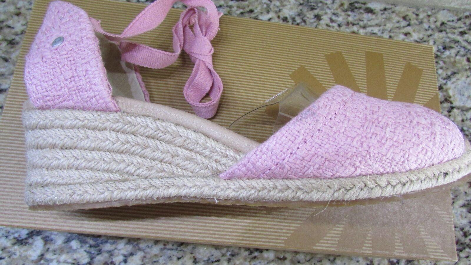 NEW UGG AUSTRALIA ROSE DELMAR SANDALES FEMMES 8.5 BLUSH WEDGE HEEL