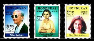 HONDURAS-1998-TEMA-AMERICA-UPAEP-Mujeres-Famosas-3v