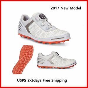 1960254be425 2017 New Ecco Mens Golf Shoes Cage Pro BOA White EU39 40 41 42 43 44 ...