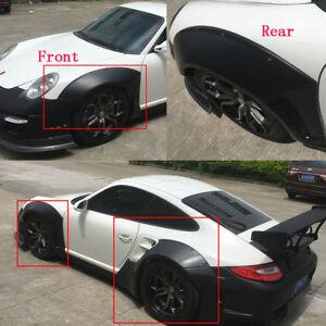 Details about Wide Fender Flares 8PCS Body Kit Wheel Arch Fit for Porsche  911 997 10-12 LRB