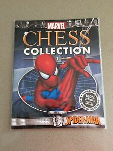 CHESS-COLLECTION-1-SPIDER-MAN-MARVEL-WHITE-KNIGHT-PLASTIC-SEALED-BOOKLET-ONLY