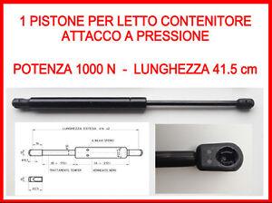 PISTONE A GAS MOLLA DI RICAMBIO PER LETTO CONTENITORE-1000 N-ATTACCO ...