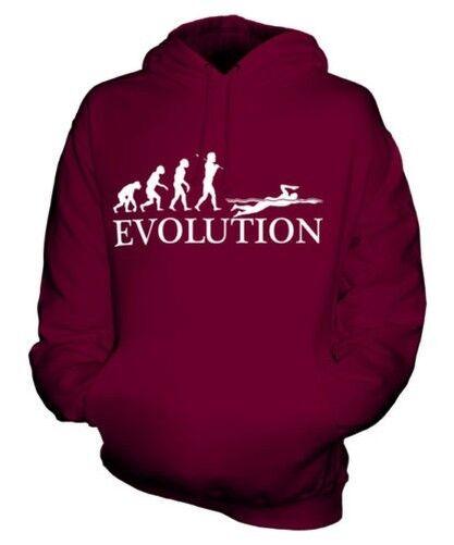 SWIMMER EVOLUTION OF MAN UNISEX HOODIE MENS WOMENS LADIES GIFT CLOTHING
