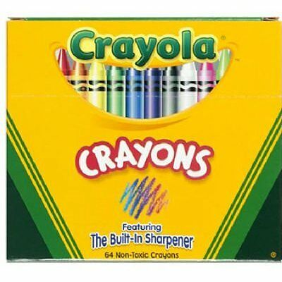 Crayola Crayons 64 count Free & Fast P&P Ultimate Pack with Built-in sharpener