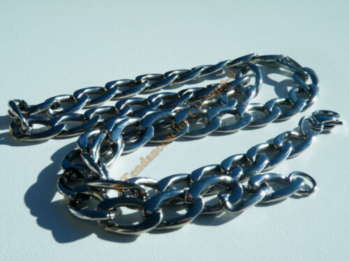 Collier Chaine Acier Inoxydable Maille Gourmette 10 mm
