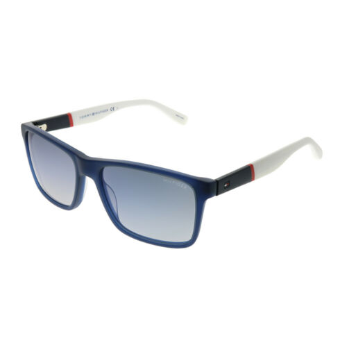 Tommy Hilfiger Th 1405//S H10 DK Bleu Lunettes de soleil en plastique Bleu Lentille à Gradient