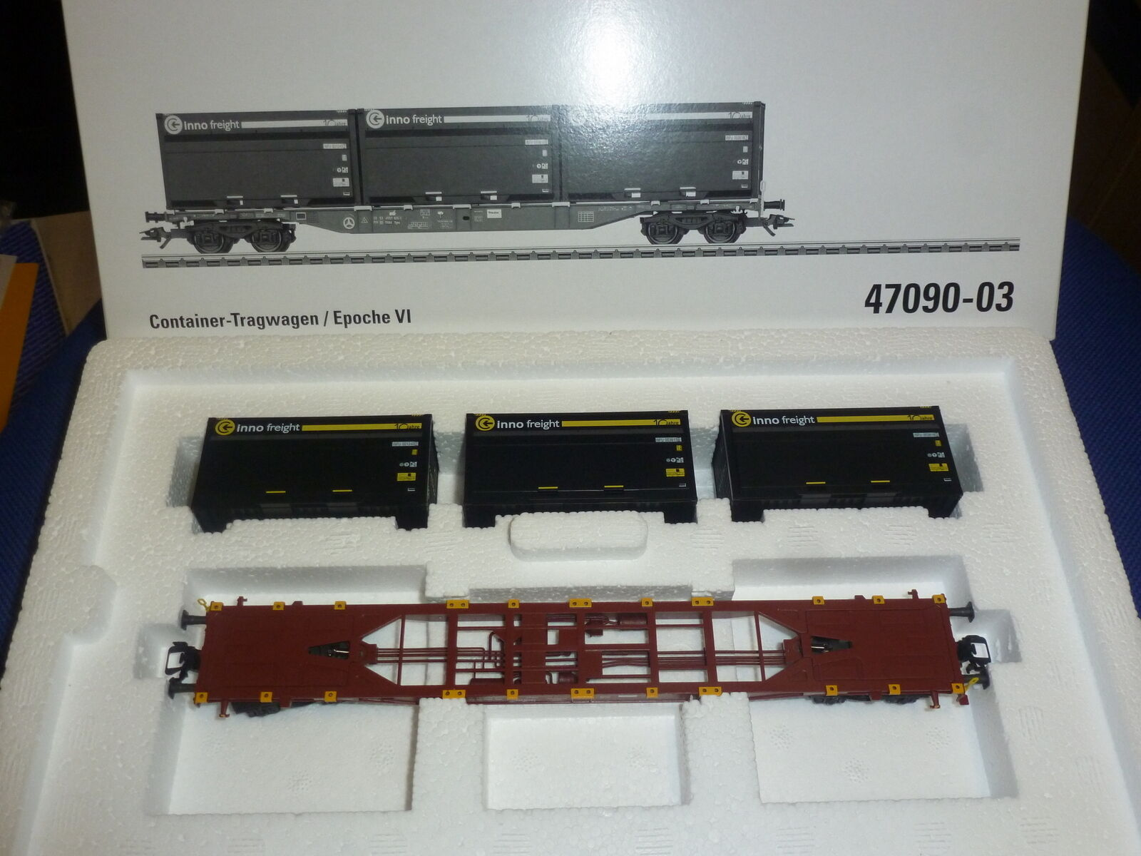 Märklin contenedores armazón auto nº 47090-03