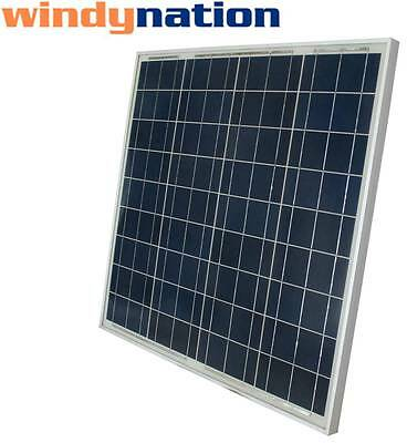 60W 60 Watt Solar Panel 12V 12 Volt Battery Charger Off Grid, RV, Boat, Gate