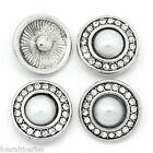 1 Bouton Pression Click Clique Perles Strass Pour Bracelet Personnalisé 20mm