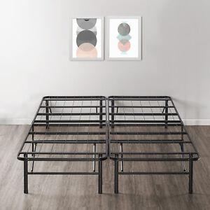 14-039-039-Easy-Setup-Bi-Fold-Metal-Bed-Frame-w-Under-bed-Storage-Mattress-Foundation