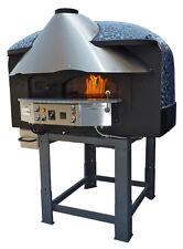 Mixed Rotating Gas Wood Burning Pizza Oven Black Mosaic