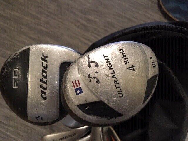 Golftaske, inkl. køller til børn