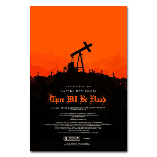 There Will Be Blood Movie Art Silk Poster Decor 13x20 24x36 inch