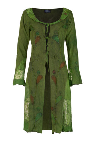 New Bohemian Mid Length Jacket with Lace Detail up to Plus Size