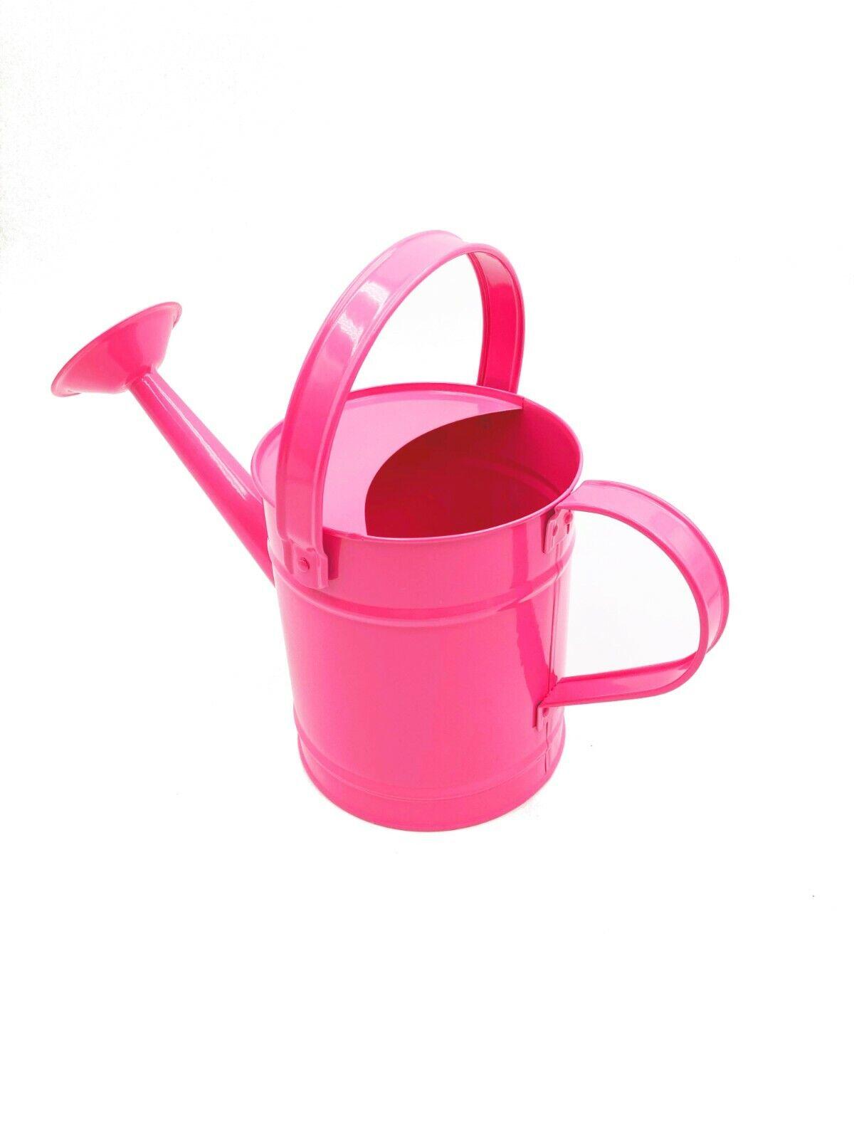 Children's Pink Metal Watering Can (22cm) - Holds 1.3 L OUTDOOR Garden Kids