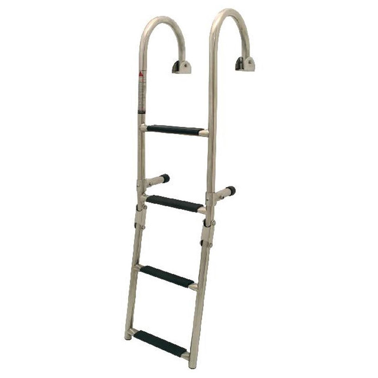 Lalizas   Nuova Rade Stainless Steel Boarding Ladder for Ship's Rail 3 - 5 Steps