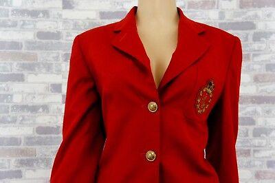 *** ✿ Ralph Lauren ✿ Designer 100% Lana Gehrock Jackett Oro Bottoni Emblema ✿ S ✿-mostra Il Titolo Originale Funzionalità Eccezionali