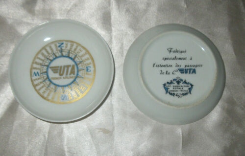 UTA UNION DES TRANSPORTS AERIENS FREACH AIRLINES Small Plate By LIMOGES FRANCE