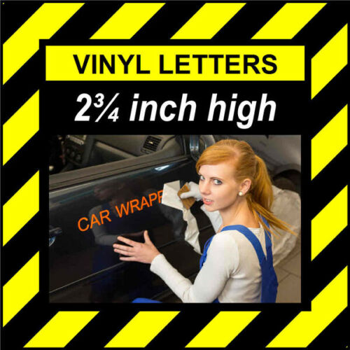 environ 6.98 cm 70 mm haute auto-adhésif vinyle Stick LETTRES /& CHIFFRES 9 caractères 2.75 in