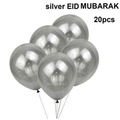 Islam Ramadan Mubarak Eid Mubarak Decoration Balloons Bunting Multicolor Kids UK