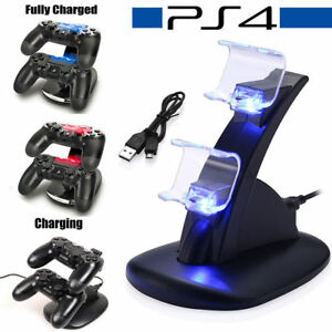 Dual-Controller-LED-Charger-Dock-Station-USB-Fast-Charging-For-PlayStation-4-PS4