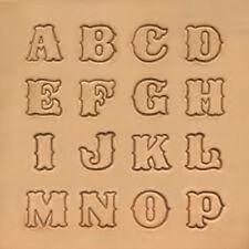 Tandy Leather Craftool Standard Alphabet Stamp Set 8131 00 Ebay