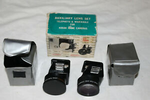 Focal-AUXILIARY-LENS-SET-for-KODAK-Disc-Cameras-Telephoto-amp-Wide-Angle-Cases