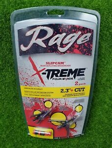 "Rage Extreme 4-Blade 100 Grain 2.3"" Cut Broadhead Arrow 2-Pack - R51200"