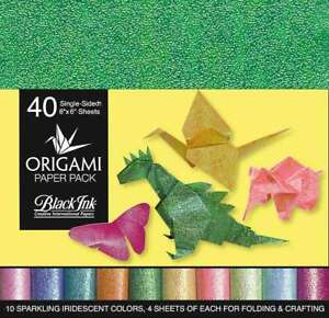 Origami Paper Pack Iridescent 40 Sheets 722559300010