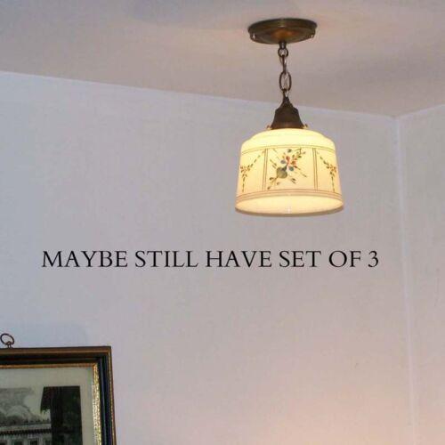 831 Vintage antique 40/'s Ceiling Light Pendant lamp fixture glass shade kitchen