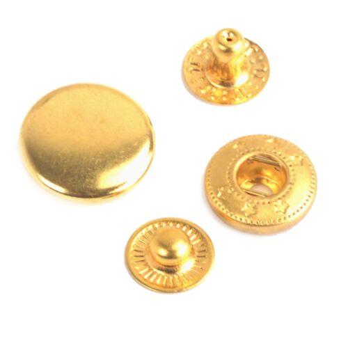 12.5mm oro prensa tachuelas S Primavera Popper Press Snap Fijadores Remaches Leathercraft