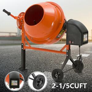 Portable-2-1-5-Cuft-Electric-Concrete-Cement-Mixer-Barrow-Machine-Mixing-Mortar