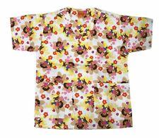 Nickelodeon Nursing Medical Pediatric Scrubs Shirt Top Paw Patrol White XL