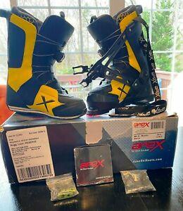 Apex-Men-039-s-Ski-Boots-MC-2-High-Performance-Black-amp-Yellow