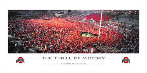 Ohio State Buckeyes Victory over Michigan Rush the Field 2006 Poster Print