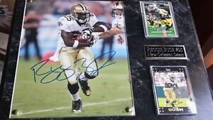 Reggie-Bush-25-New-Orleans-signed-plaque-coa