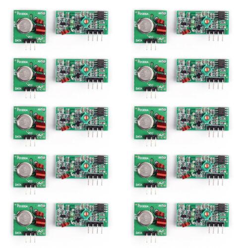 10Set 433MHZ Wireless Transmitter and Receiver Kit Wireless Transmitting UE