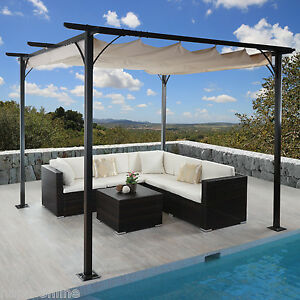 3x3 m pavillon garten pergola sonnenschutz terrassen berdachung sonnensegel mal ebay. Black Bedroom Furniture Sets. Home Design Ideas