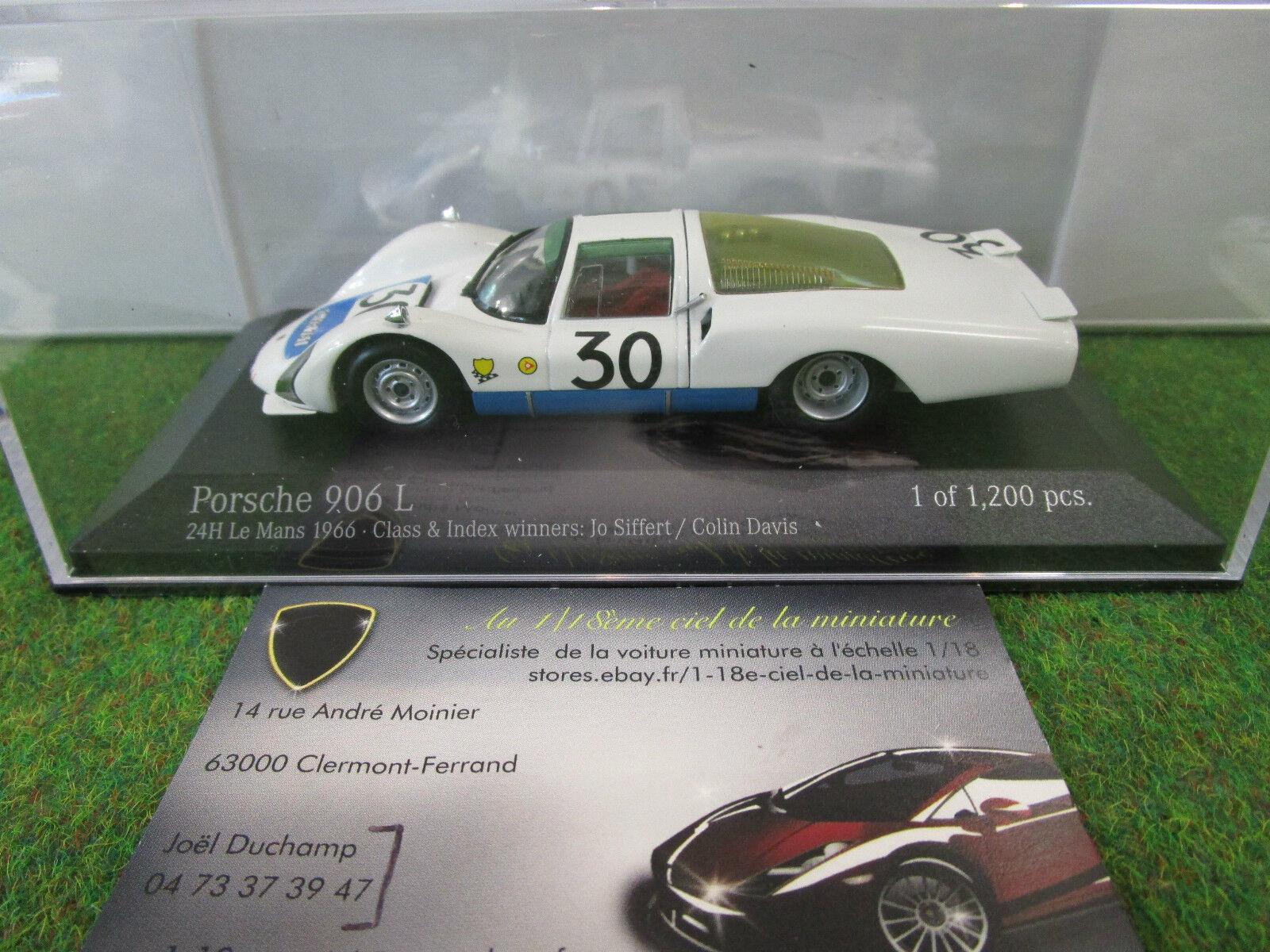per offrirti un piacevole shopping online PORSCHE 906 L winner LE uomoS 1966 SIFFERT 1 1 1 43 MINICHAMPS 400666630 voiture mini  lo stile classico