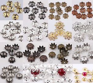 Wholesale-Lots-500pcs-Silver-Gold-Plated-Metal-Flower-Bead-Caps-6mm-Findings