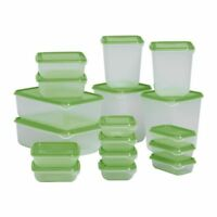 IKEA PRUTA 34 pieces Food Saver Storage Containers Plastic Bowls NEW BPA FREE