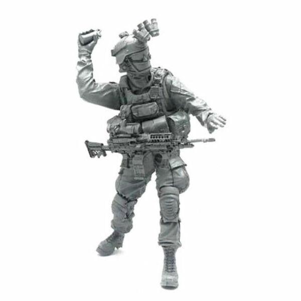 GK BEE-10 Modern USA Commando Soldier Bioweapon Gas Mask 1//35 Model Figure Resin