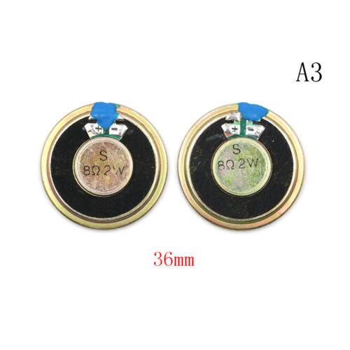 2PCS 8Ω 2W Audio Speaker Stereo Loudspeaker Trumpet Horn 28//30//36//40//50mm CN