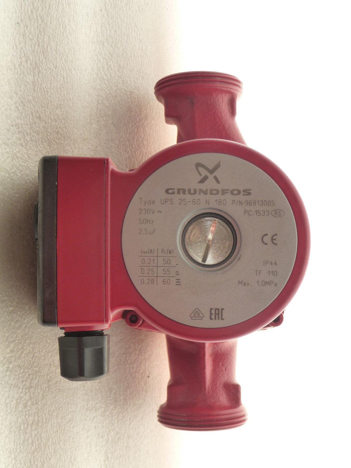 Grundfos UPS 25 - 60 60 60 N  Zirkulationspumpe 230 Volt  180 mm NEU P5690/18 3be54f