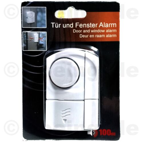 1 Stück Tür /& Fenster-Alarm Sicherheitstechnik Magnetsensor Sirene Alarmanlage