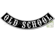 Aufnäher Biker Patch OLD SCHOOL Bogen unten 30cm gestickt, Bottom Rocker , MC