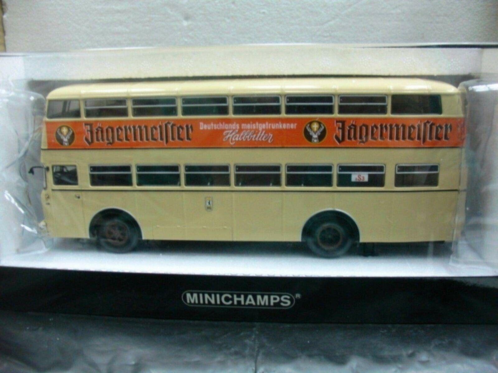 Wow extremadonnate raro Bussing Büssing D2U D. Decker Bus Jagermeister 1 43 Minichamps